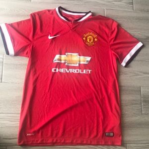 Nike Manchester United red jersey